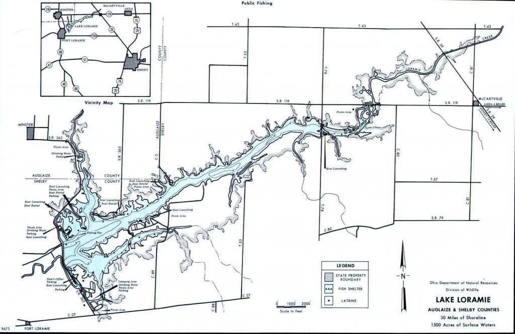 Map of Lake Loramie